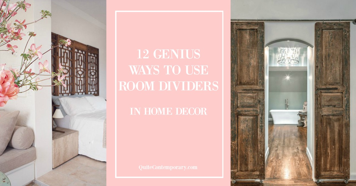 12 genius ways to use room dividers in home decor quite - How to decorate my home ...