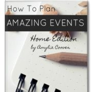 How to plan amazing events Home Edition Cover NEW